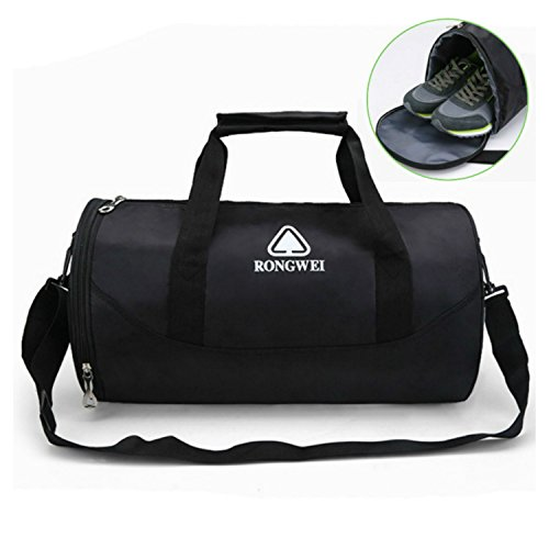CKOI Sports Gym Bag with Shoe Compartment Travel Luggage Duffel Bag for Men and Women (Black) by CKOI