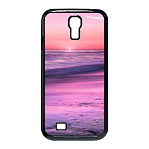 Samsung Galaxy S4 Case,Sunrise Horizon Calm Sea Beach Hard Shell Back Case for Black Samsung Galaxy S4 Okaycosama462057
