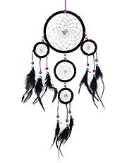 Drömfångare för vackra drömmar med pärlor och äkta fjädrar Ø 9 cm 11 cm 14 cm 16 cm 17 cm och 28 cm