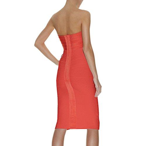 HLBCBG Damen Kleid Orange Orange Orange - Pink jtd5fughT
