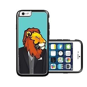 RCGrafix Brand Springink Hipster Lion Wedding Suit iPhone 6 Case - Fits NEW Apple iPhone 6