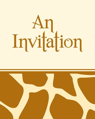- 8-Count You're Invited Party Invitations, Animal Print Giraffe
