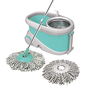 Mop with Big Wheels and Stainless Steel Wringer