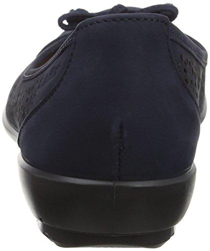 Hotter Precious Ballet Women's Blue Navy Flats F6W6Yc1nr