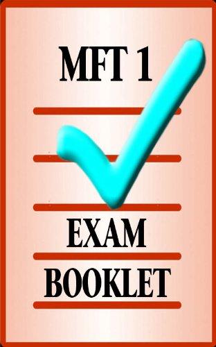 MFT Exam Booklet 1