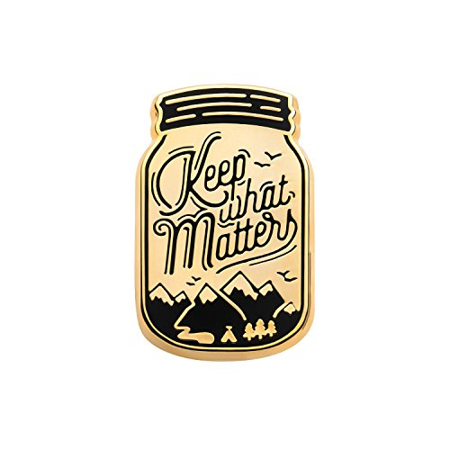 Asilda Store Lapel Enamel Pin [with Deluxe Pin Lock] (Keep What Matters) ()