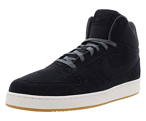 Nike Mens Court Borough Mid Prem Suede Hight, Black/Anthracite/Sail, Size 11.0