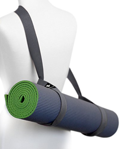 Yoga Mat Sling Carry Strap - Adjustable, Durable, Cotton (Grey)
