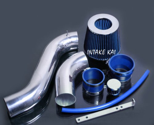 PERFORMANCE COLD AIR INTAKE KIT + FILTER FOR 2002-2005 Chevrolet Trailblazer, GMC Envoy, 2002-2004 Oldsmobile Bravada 4.2 4.2L ENGINE (BLUE) ()