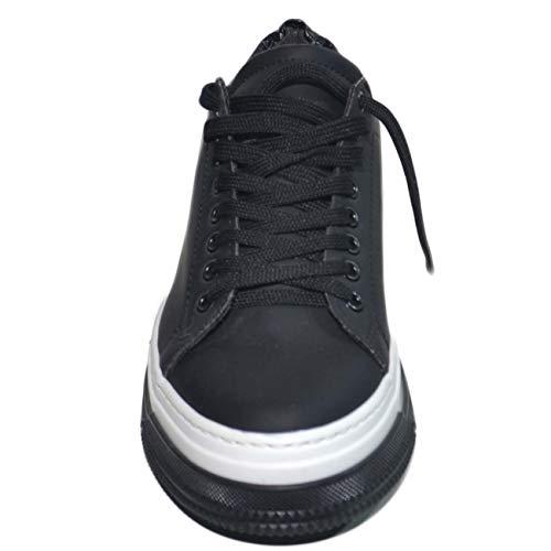 Piramide Sneakers Uomo Vera 280 Nero Gommata In Fortino Fondo Streetstyle Pelle Bianco Art Bicolore Bassa Amnesia TTrqwv