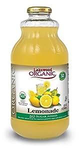 Lakewood Organic Lemonade Juice, 32-Ounce Bottles (Pack of 6)