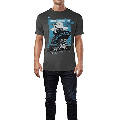 SINUS ART® Bandolero Herren T-Shirts stilvolles rauch graues Fun Shirt mit tollen Aufdruck