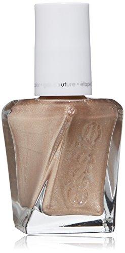 essie gel couture nail polish, daring damsel, gold metallic