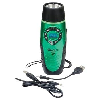 Wind 'N Go 7301 UltraLight Weather Alert Radio and Flashlight, Green, 3.5 x 2.5 x 7-Inch
