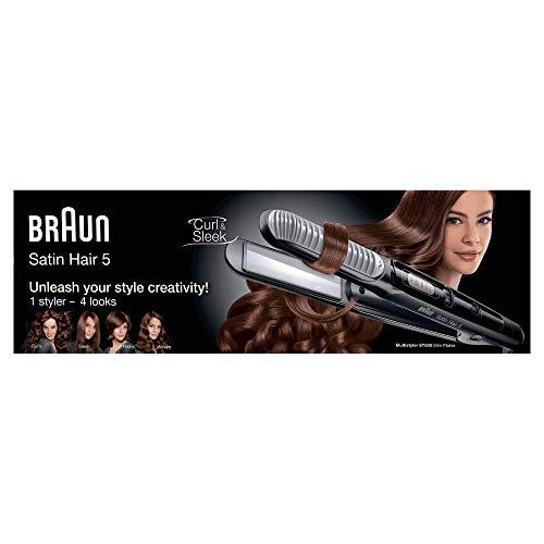 Braun ST550 Satin Hair 5 Styler Ceramic Flat Iron Hair Straightener, 220V (Not for USA - European Cord)