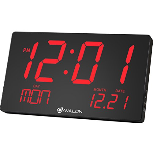 Avalon oversized led digital clock extra large display easy import it all - Extra large digital wall clock ...