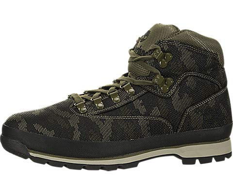 (Timberland Men's Euro Hiker Fabric Black/Camo Fabric 10 D US D (M))