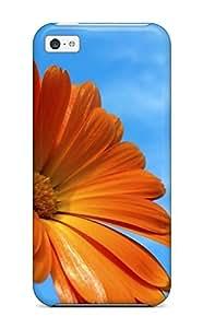 Cute High Quality Iphone 5c Orange Flowers Case