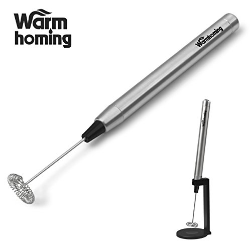 Milk Frother - Milk Steamer Sokos Wand Slim Electric Stainless Steel Handheld Milk Frother For Coffee Latte or Cappucino, Hot Milk (Steam Wands For Frothing Milk compare prices)