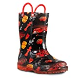 ZOOGS Children's Light Up Rain Boots for Little Kids & Toddlers, Boys & Girls