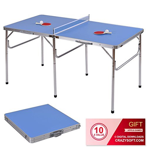"60"" Portable Table Tennis Ping Pong Folding Table w/Accessories Indoor Game - By Choice Products"