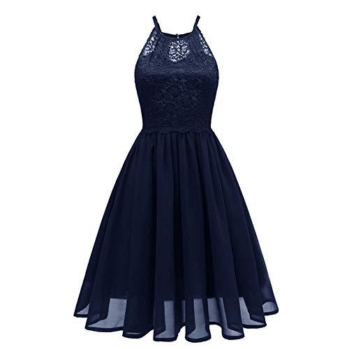 Del Partito Dall'oscillazione Size Blue color Donne Mallty Black Merletto Xl Vestiti Da Chiffona Senza Vestito Maniche Rappezzatura Delle HqtWE1wC