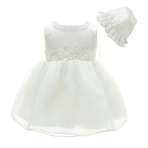 Embroidered Organza Dress (Sisjuly Baby Girls Christening Dress Organza Embroidered Baptism Gown S Ivory)