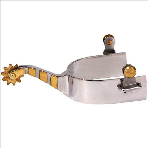 OKSLO HILASON Stainless Steel Cutter Men SPUR Solid Brass Trim Rowel Button