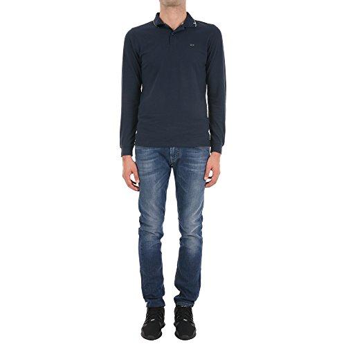 Sun 68 Herren 2610307 Blau Baumwolle Poloshirt