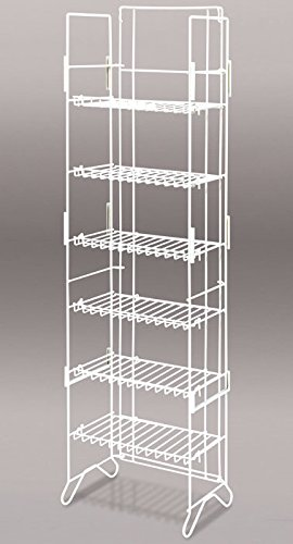 New Retails White 6-Shelf Compact Merchandiser 52''H x 13.5''W x 8.75''D