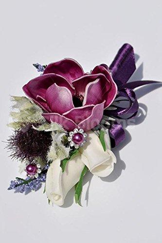Beautiful-Plum-Fresh-Touch-Anemone-and-Poppy-Wedding-Corsage