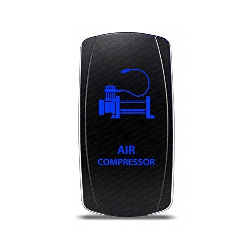 CH4x4 Rocker Switch Air Compressor Symbol - Blue LED