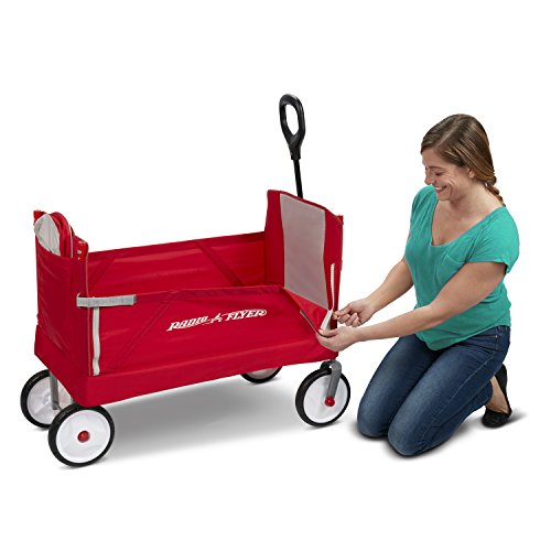 415hHBrTNmL - Radio Flyer 3-In-1 EZ Folding Wagon with Canopy for kids and cargo