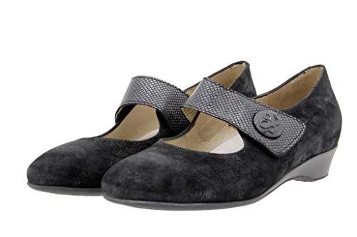 Scarpe Comfort Piesanto Pelle Mary Jean Speciale 9726 Donna Casual Nero Larghezza wOOEd1