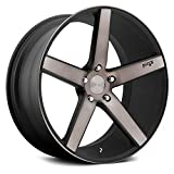 Niche M134 Milan Сustom Wheel - Black with Machined Face and Double Dark Tint 20' x 8.5', 38 Offset, 5x114.3 Bolt Pattern, 70.6mm Hub