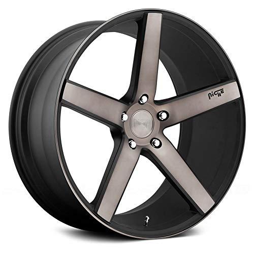 22x10 NICHE MILAN SUV M134 Black Machined Wheels 5x130 Bolt Pattern with +50 ()