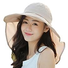 Yxjdress New Women Summer Sun Hats Beach Sun Hat Bucket Hat with Big Fold-up Brim