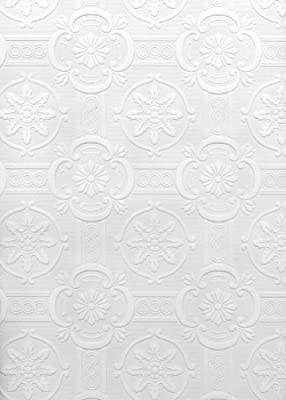 Brewster Reuben Ornate Tiles Paintable Wallpaper Paintable