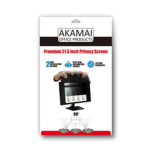 Akamai Office Products 21.5 inch (Diagonally Measured) Privacy Screen Filter for Widescreen Computer Monitors & Latest 21.5 inch iMac Retina 4K Anti-Glare - Please Measure Carefully! by Akamai Office Products (Image #5)