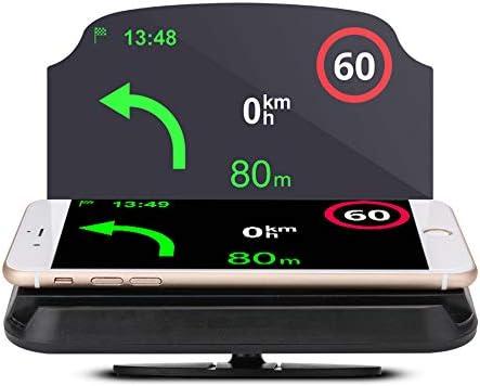 LEIWOOR Soporte Universal de navegación para GPS para Coche, Soporte para teléfono móvil, proyector de reflexión Multifuncional, Soporte para teléfono móvil para Todos los Smartphones Samsung iPhone: Amazon.es: Coche y moto