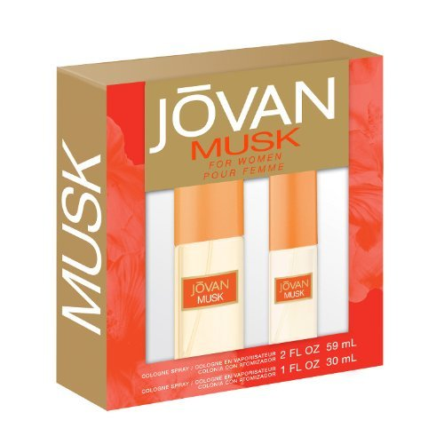 Jovan 2 Piece Fragrance Set Musk Spray for Women by (Jovan Set)