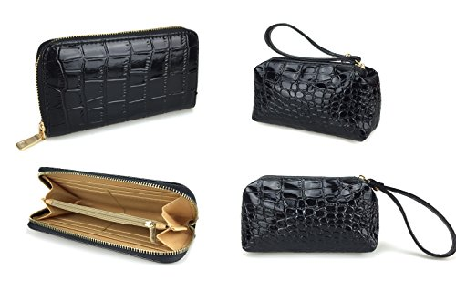 Handbag Pack purpose Leatherette of Multi 7 New Purse Classic Bags Women Design Shoulder Black Hoxis Patent Leather Fqw46xSw