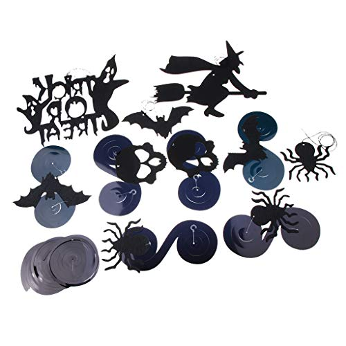 SM SunniMix Halloween Party Scary Hanging Swirl Indoor and Outdoor Wall Room Decorations -