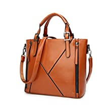 Womens Briefcase Leather Top Handle Bag Laptop Satchel Shoulder Handbag Purse