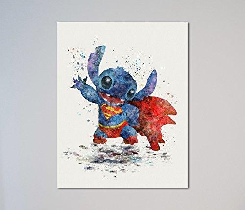 Stitch Superman Lilo and Stitch 11 x 14 inches Print (Picture Superman)