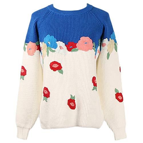 Abbigliamento Donna Maglieria A Felpa Oversize Per Stampa Pullover Maniche Da Top Super Keep Maglia Con Capp 3d Lunghe Warm Maglione Blu Dress Ragazze R0RWxnZw