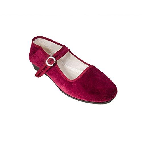 Sonnenscheinschuhe® , Ballerines pour femme rouge rouge bordeaux
