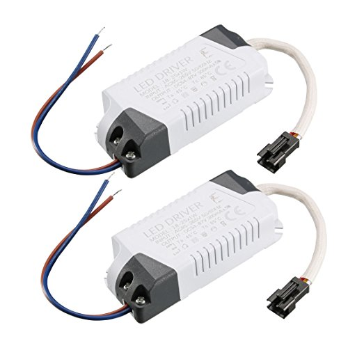 uxcell LED Driver 18-25W Constant Current 300mA High Power AC 85-265V Output 54-87V External Power Supply LED Ceiling Lamp Rectifier Transformer 2Pcs ()