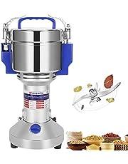 Moongiantgo 400 g/0,88 lb Elektrische Graan Grinder 50-300 Mesh Spice Mill, roestvrij staal & 1800W 28000 rpm Commerciële Motor, voor Graan Spice Kruid, met bescherming van overbelasting & Open-Cover-Stop