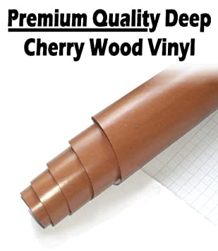 TIS (TM) 2 X A4 Sheets Deep Cherry Wood Self Adhesive / Sticky